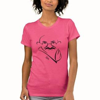 Mahatma Gandhi T-Shirt -- Pink - Ladies