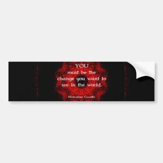 Mahatma Gandhi Wisdom Saying about action Bumper Stickers