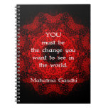 Mahatma Gandhi Wisdom Saying about action Spiral Note Book