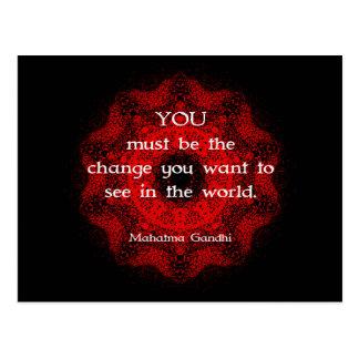 Mahatma Gandhi Wisdom Saying about action Postcard