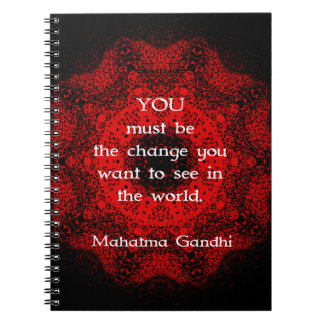 Mahatma Gandhi Wisdom Saying about action Spiral Notebook