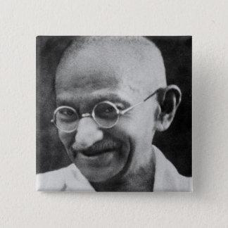 Mahatma Ghandi Portrait Photograph Button