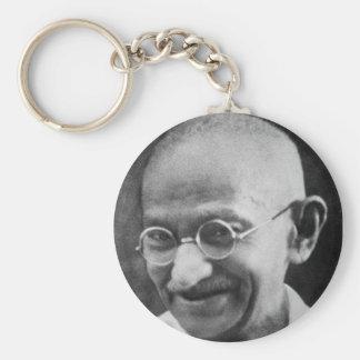 Mahatma Ghandi Portrait Photograph Keychain