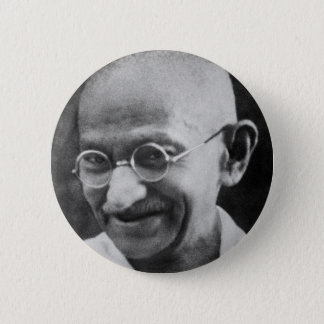 Mahatma Ghandi Portrait Photograph Pinback Button