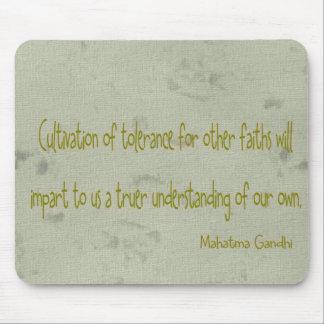 Mahatma Ghandi Quote Mouse Pad