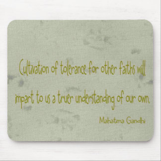 Mahatma Ghandi Quote Mouse Mat
