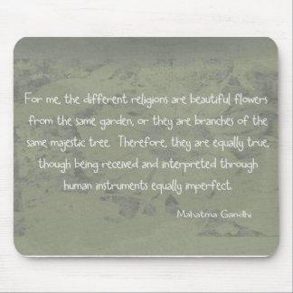 Mahatma Ghandi Quote Mouse Mats