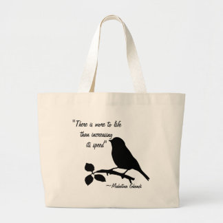 Mahatma ghandi quote on items black and white tote bag
