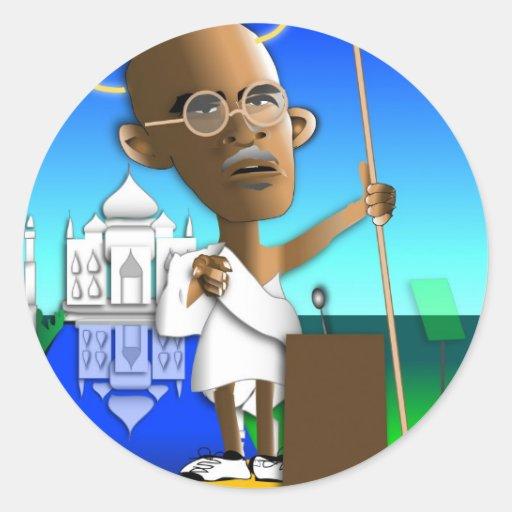 Mahatmabama Taj Etiquetas Redondas