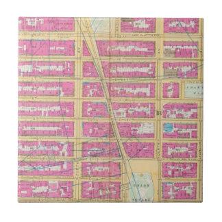 Mahattan, Nueva York 12 Azulejo Cuadrado Pequeño