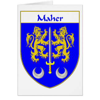 Maher Coat of Arms/Family Crest Card