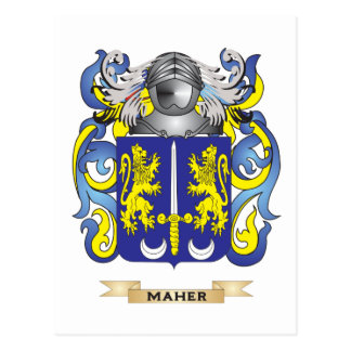 Maher Coat of Arms (Family Crest) Postcard
