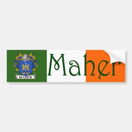 Maher Coat of Arms Flag Bumper Sticker