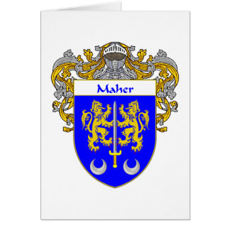 Maher Coat of Arms (Mantled) Card