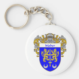 Maher Coat of Arms (Mantled) Key Chain