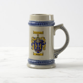 Maher Coat of Arms Stein / Maher Crest Stein 18 Oz Beer Stein