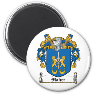 Maher Family Crest 2 Inch Round Magnet
