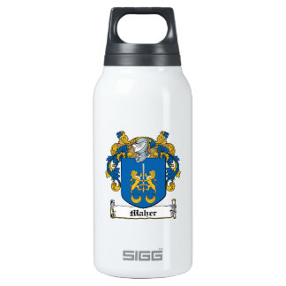 Maher Family Crest Insulated Water Bottle