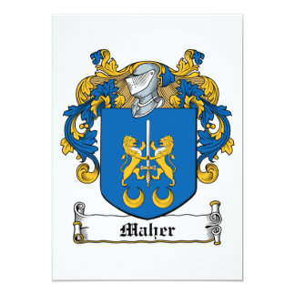 "Maher Family Crest 5"" X 7"" Invitation Card"