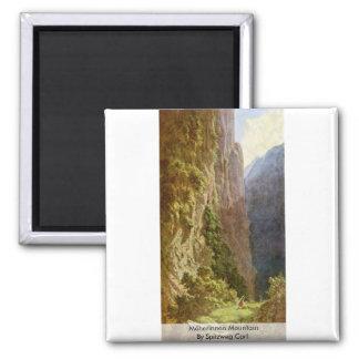 Mäherinnen Mountain By Spitzweg Carl Refrigerator Magnets
