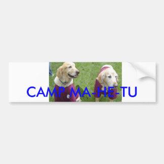 mahetu dogs_edited-1, CAMP MA-HE-TU Bumper Sticker