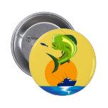 Mahi-mahi de los pescados del delfín de Dorado Pins