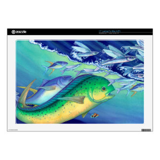 Mahi Mahi (Dolphin Fish) chasing Flying Fish Laptop Skins