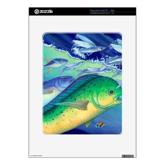 Mahi Mahi (Dolphin Fish) chasing Flying Fish Skin For The iPad