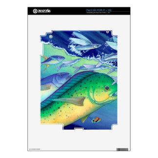 Mahi Mahi (Dolphin Fish) chasing Flying Fish Skins For The iPad 2