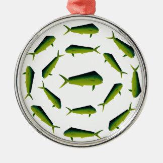 Mahi Mahi Fish - Dolphin - Dorado Metal Ornament