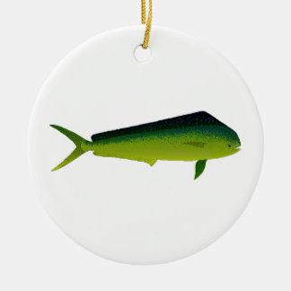 Mahi Mahi Fish - Dolphin - Dorado Christmas Tree Ornaments