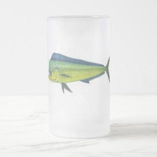 MAHI MAHI FROSTED GLASS BEER MUG