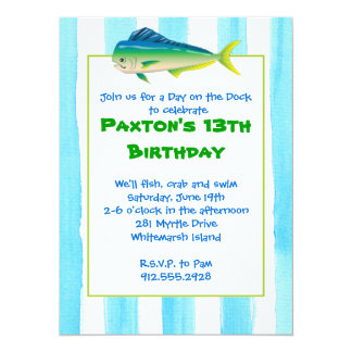 Mahi Mahi Party Invitation
