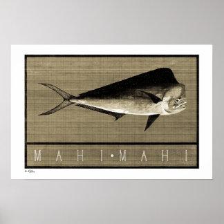 Mahi-Mahi Vintage B&W Posters, Prints and Frames