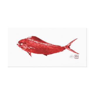 Mahi Mahi Wowee en rojo Impresión En Lienzo Estirada