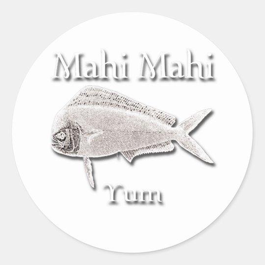 Mahi Mahi Yum Dark Classic Round Sticker