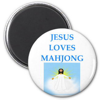 MAHJONG 2 INCH ROUND MAGNET