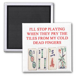 mahjong 2 inch square magnet