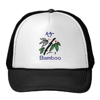 Mahjong Bamboo Suit,Red,Blue,Green,Black on White Trucker Hat