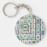 mahjong basic round button keychain