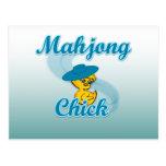 Mahjong Chick #3 Postcard