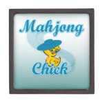 Mahjong Chick #3 Premium Keepsake Boxes