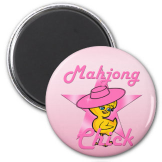 Mahjong Chick #8 2 Inch Round Magnet