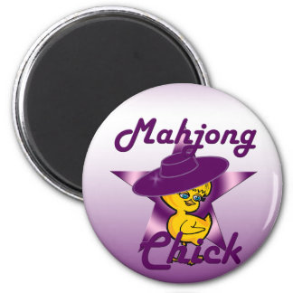 Mahjong Chick #9 2 Inch Round Magnet
