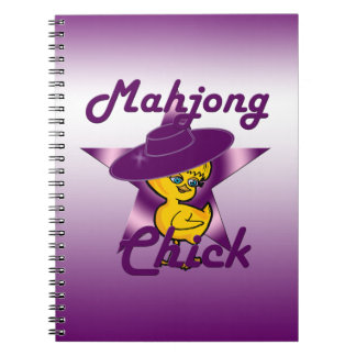 Mahjong Chick #9 Spiral Notebook