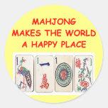 mahjong classic round sticker