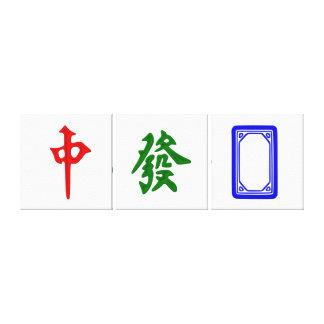 Mahjong dragon tiles
