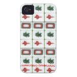 Mahjong-dragones Case-Mate iPhone 4 Protectores