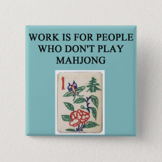 mahjong game player pinback button