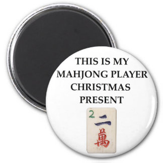 mahjong gift 2 inch round magnet